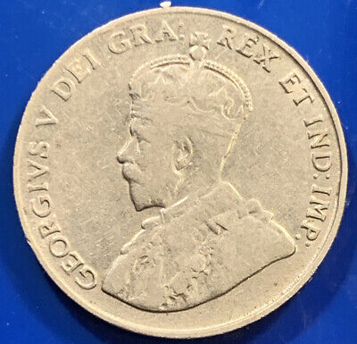 1922 Canada 5 Cents, King George V,  Foreign Coin *1377