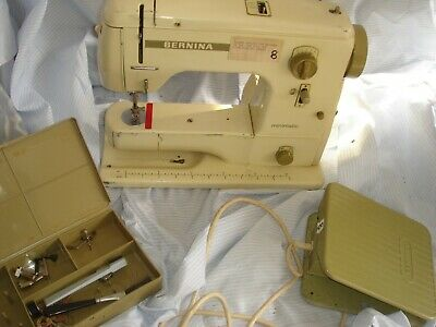 vintage swiss made bernina minimatic electric zig zag sewing machine