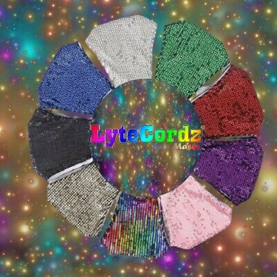Face Mask  / Cover PPE Protective Bling Glitter Sequin Stylish