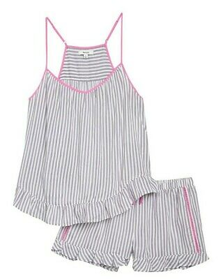 NEW Women's KENSIE Ruffle Racerback Tank and Shorts Pajama Set Size Large L NWT