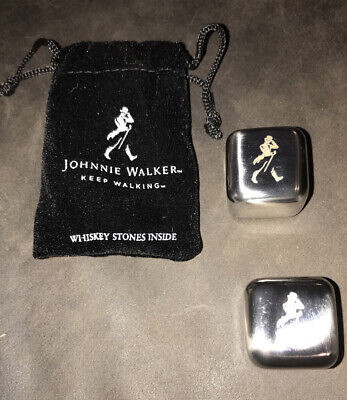 New Johnnie Walker Stainless Steel Whiskey Stones