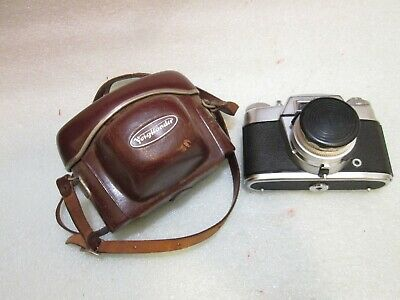 Vintage, Voigtländer Bessamatic 35mm Camera, Used W/Orig Case, Strap