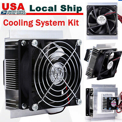 Thermoelectric Peltier Cooler Refrigeration Cooling System + Fan DIY Kit New