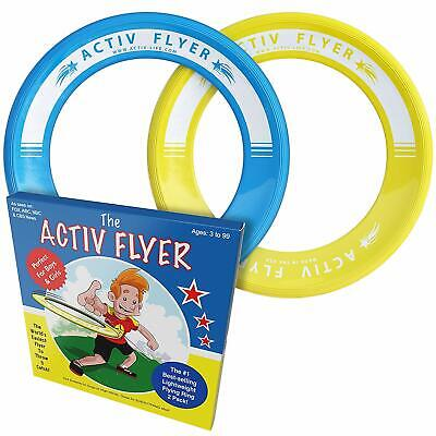 Kid's Flying Rings Discs Frisbee 2 Pack Fly Straight Get Outside & Play!