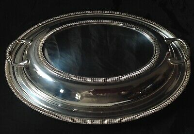 Antique Walker & Hall Sheffield Silver Plated Tureen & Lid