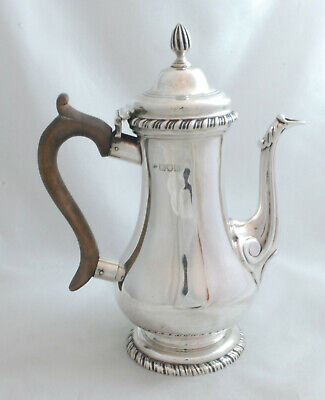 Georgian Style Batchelors Silver Coffee Pot John Gammage London 1901 375g 19.2cm