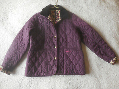 BARBOUR Girls Purple Country Cottage Prints Quilted Jacket Age 12/13XL❤
