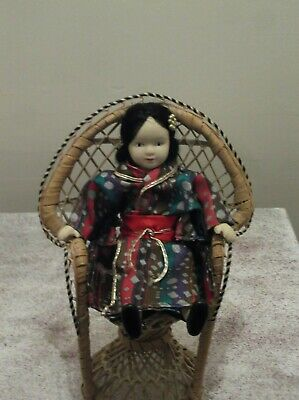 Small Wicker Cane Rattan Peacock Chair For Small Doll Small Bear Small Plant