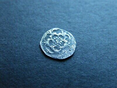 Charles I 1625 - 49 Hammered Silver Rose Halfpenny Half Penny Coin Approx 9mm