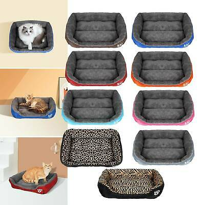 Pet Cat Dog Bed Puppy Cushion House Soft Warm Kennel Mat Blanket Washable L