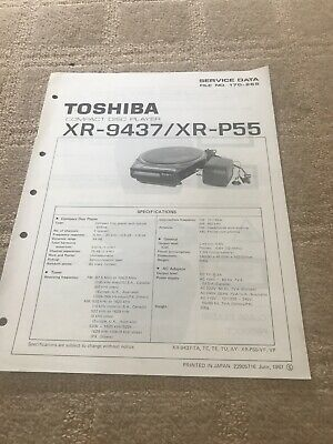 Toshiba XR-9437 /XR-P55 service manual  For Compact Disc Player