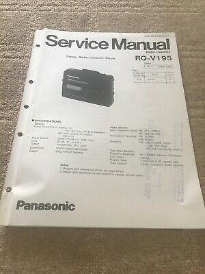 Technics / Panasonic RQ-V195 For Cassette  Radio  Service Manual