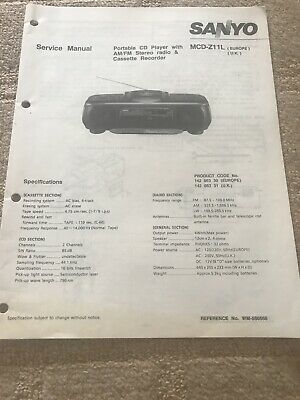 Sanyo MCD-Z11L service manual for portable CD player
