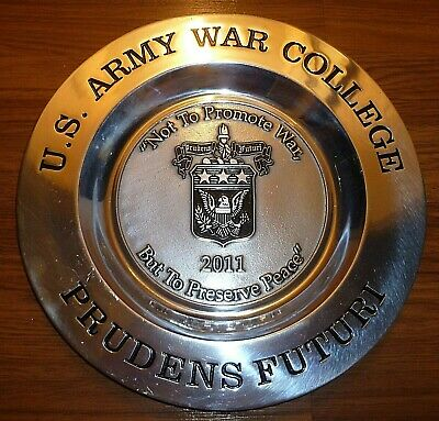 U S Army War College Class of 2011 Pewter Plate