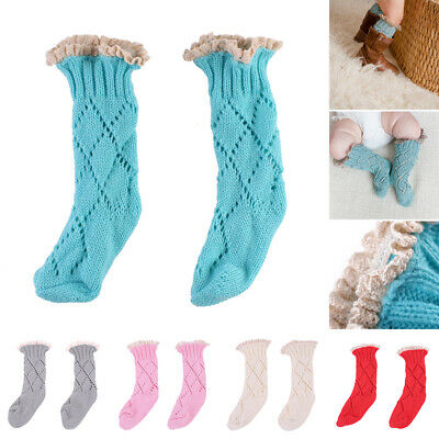 Cute Color Baby Socks Warm Soft Kids Girls Solid Newborn Boys Toddler 1pairs