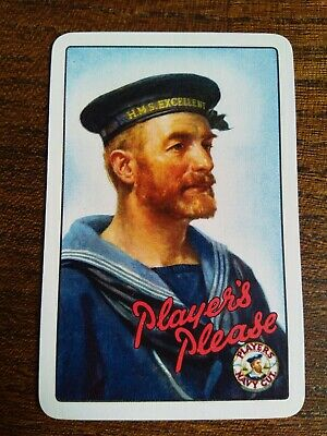 Vintage Collectable Playing Card Player's Please HMS Excellent Bearded Sailor
