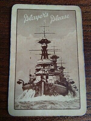 Vintage Collectable Playing Card Player's Please Battleship Sepia