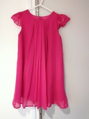 Ted Baker Girls Hot Pink Dress 3-4 Years