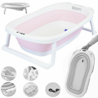 iSafe Flat Foldable Recline New Born Baby Bath - Light PINK (New)