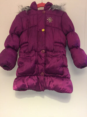 London Fog Coat Jacket Winter  Fuchsia Girls Kids 4 Years Warm Hooded