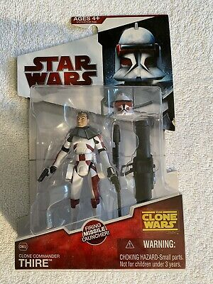 Star Wars The Clone Wars COMMANDER THIRE & Launcher CW32 2009