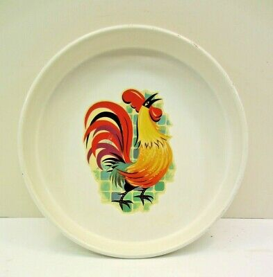"""Rooster Wall Mount Serving Metal Tray 13"""" x 2"""""""