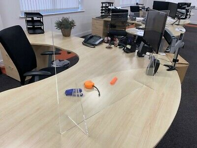 Acrylic Desk Sneeze Screen Manufactured in the UK Any shape and size available