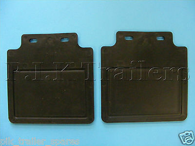 "Rain Mud Flaps to fit  8"" or 10"" Wheels on Trailer Mudguards    #2659"