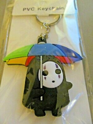 No Face Spirited Away Umbrella Totoro  Silica Double Sided Keychain  (NEW)