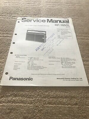 Panasonic RF-1650L Radio  Service Manual