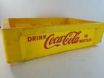 Vintage COCA COLA COKE YELLOW PLASTIC CASE CRATE CARRIER