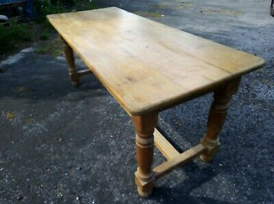 Antique pine 3 Plank Refectorary T joint  kutcjen/dining table