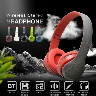 Wireless Gaming Headphones Stereo Headset Noise Cancelling with Mic Over Ear UK
