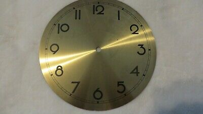 "Large Antique Brass Clock Face 8"" Round"