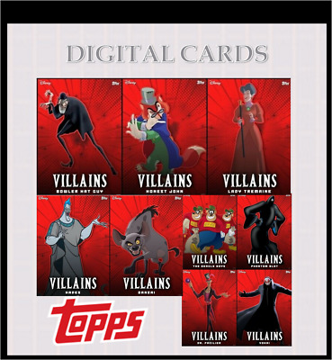 2020 VILLAINS SERIES 3 COMPLETE SET OF 9 CARDS Topps Disney Collect