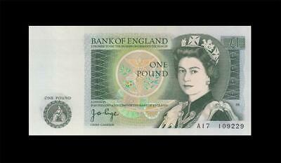 """1978-80 BANK OF ENGLAND QEII 1 POUND **Page** """"A"""" (( GEM UNC ))"""