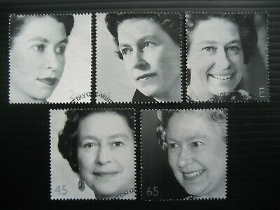 GB 2002 QUEEN ELIZABETH ll PORTRAITS FULL SET SG 2253/7 VERY FINE USED STAMPS