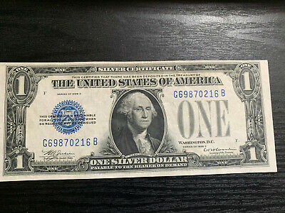 Series of 1928 D One Dollar Silver Certificate $1 Funny Back 1928D Bill Note