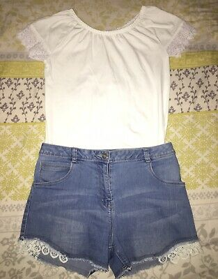 Girls Summer Outfit Age 12-13 Years T-Shirt And Shorts