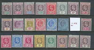 COMMONWEALTH EDWARD V11th FINE MINT HINGED  COLLECTION NICE!