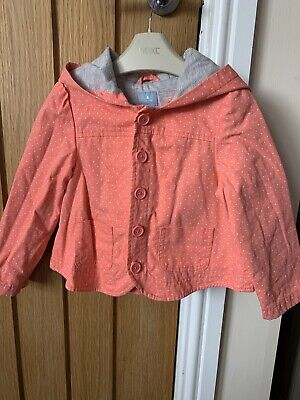 Girls Baby Gap Summer Jacket Spots Pink 3yrs With Hood