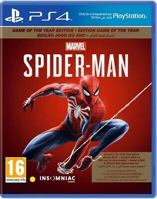 Spider-Man (GOTY) - Game of the Year Edition, PS4 - New & Factory Sealed