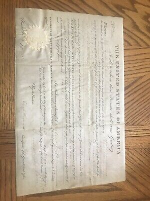 Authentic 1831 U.S. Land Grant ~ Signed By American President Andrew Jackson IL