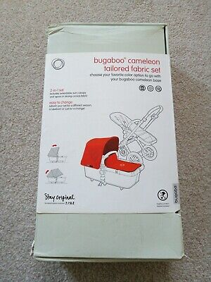 New Bugaboo Cameleon3 Tailored Fabric Set Orange With Extendable Hood