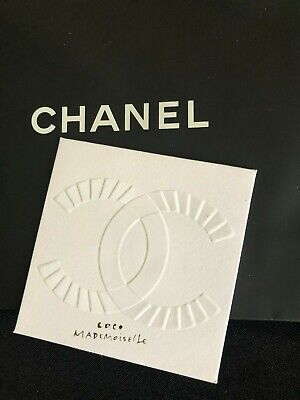 Chanel Coco Mademoiselle Lot of 6 Ad Cards and Envelopes 3.5 in x 3.5 in