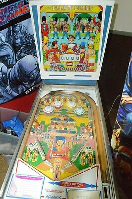 1968 Vintage Gottlieb Palace Guard Wedge head Pinball Machine table project