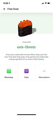 £30 Off Uber Eats Voucher * 2