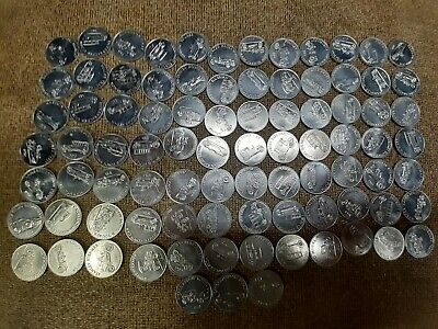 Lot of 88 Sunoco Antique car Tokens Series 1 and 2 Free Shipping