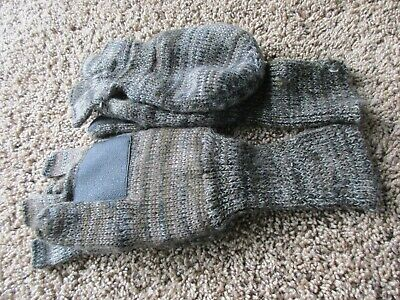 Used Knitted  Shooters Mitts Fingerless Gloves Mittens Hunting Shooting