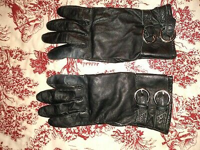 Black leather ladies driving gloves size large, bithday wedding gift